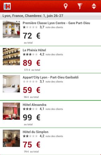 L 39 application pour trouver et r server un for Trouver un hotel disponible